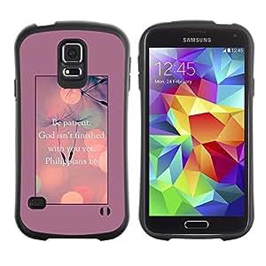 Suave TPU Caso Carcasa de Caucho Funda para Samsung Galaxy S5 SM-G900 / God Motivational Inspirational / STRONG