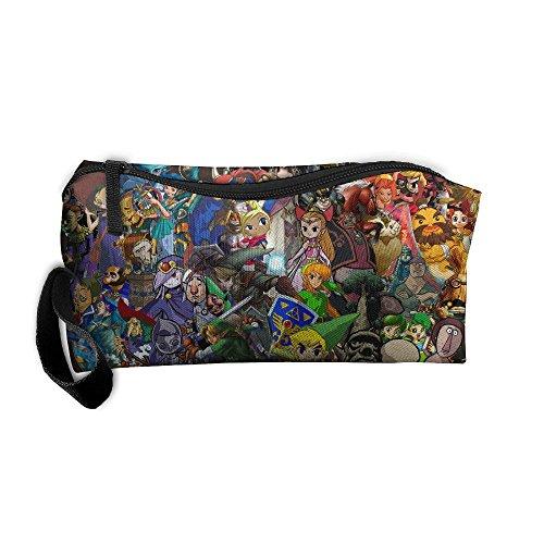 HYHYFGSSD The Legend Of Zelda Makeup Bag Zipper Pouch Purse Portable Storage Pouch Bag Handbag