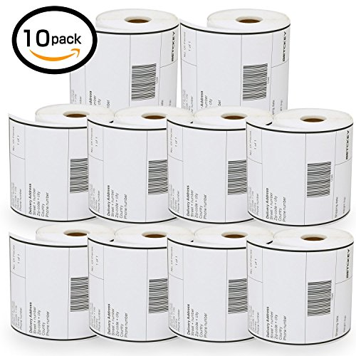 10 Rolls Dymo 1744907 Compatible 4XL Internet Postage Extra-Large 4