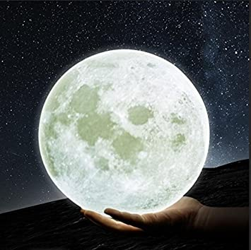 Security & Protection Self-Conscious Moon Light 3d Printed Moon Globe Lamp 2 Colors 3d Glowing Moon Lamp With Stand Touch Control Brightness Usb Charging