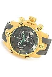 Invicta Men's 'Venom' Swiss Quartz Stainless Steel and Polyurethane Automatic Watch, Color:Grey (Model: 90135)