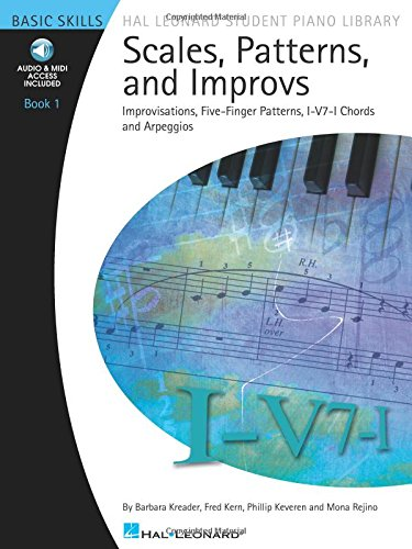 Scales Patterns And Improvs - Book 1 - Hal Leon Ard Student Piano Library (Hal Leonard Student Piano Library (Songbooks)