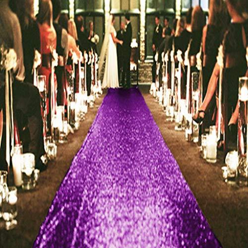 Aisle Runner Tape, Shimmer Sequin Fabric Wedding Floor Runner, Glitter Carpert Runner