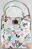 Disney Dooney & Bourke White Sketch Crossbody Letter Carrier Purse