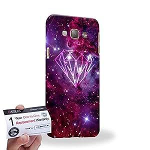 Case88 [Samsung Galaxy A8] 3D impresa Carcasa/Funda dura para & Tarjeta de garantía - Art Fashion Diamond Nebula Overlay Pink