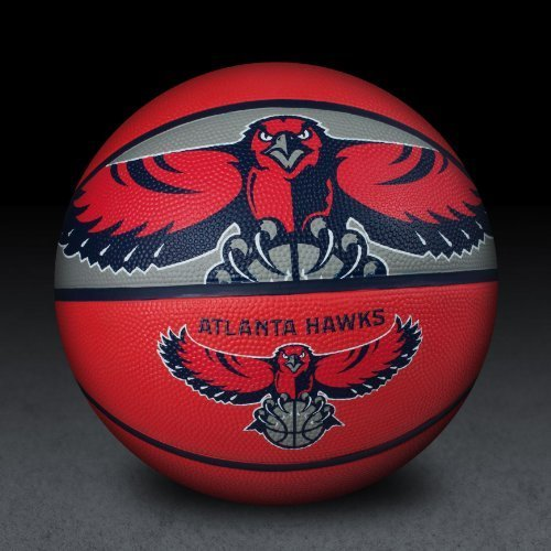 fan products of Spalding 71034E NBA Team Courtside Basketball - Atlanta Hawks