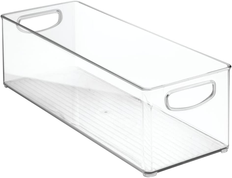 InterDesign Cabinet/Kitchen Binz Kitchen Storage Container, Extra Large Plastic Storage Boxes for The Fridge, Freezer or Pantry, Clear