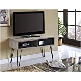 Pemberly Row Retro 42 Inch TV Stand in Sonoma Oak and Gunmetal Gray Review