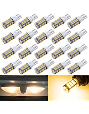 OXILAM T10 921 912 194 168 LED Bulbs Super Bright 2835 SMD 12-24V LED RV Replacement RV Camper Boat Trunk Trailer Ceiling Dome Interior-Light Bulbs 6000K Xenon White Pack of 10