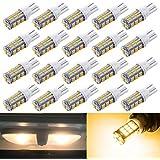 AOKEzl 20 Pack Super Bright 12V T10 921 194 168 175 42-SMD 3014 LED Bulbs Use for RV Trailer Car Backup Reverse LED Lights Bulbs Light Width Lamp Warm white