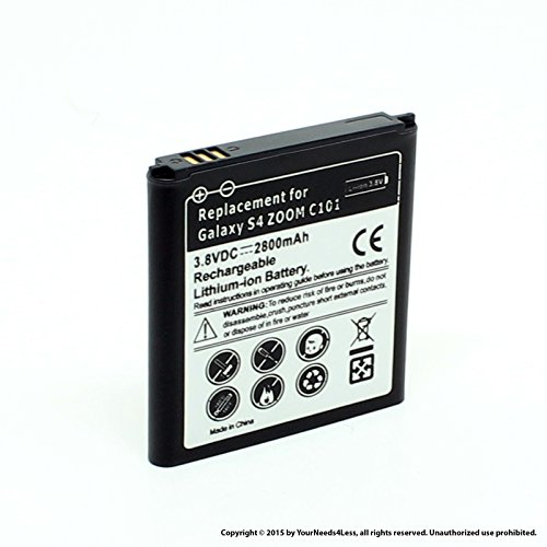 YN4L 2800mAh Replacement Battery for Samsung Galaxy S4 Zoom C101 ; C1010 ; C105