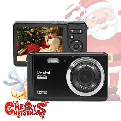 Mini Digital Camera,Vmotal 3.0 inch TFT LCD HD Digital Camera Kids Childrens Point and Shoot Digital Cameras Black-Sports,Travel,Holiday,Birthday
