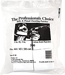 "Professional's Choice Gun Cleaning Patches (500 Pack) Cotton Knit - 3"" Square, .44 .45 .50 Cal."