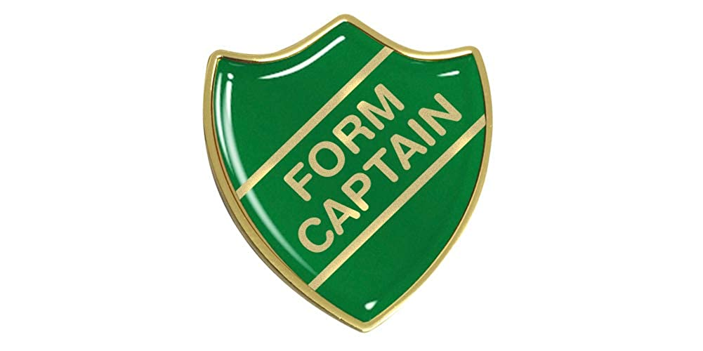 Free P/&P 4 colours Red Blue Green Yellow Form Captain Shield Enamel Badges
