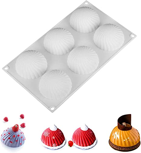 High temperature food grade manufacturers direct selling silica gel cake 6 mold baking tools household baking tools