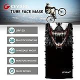 JOEYOUNG Skull Face Mask UV Sun Mask Dust Neck