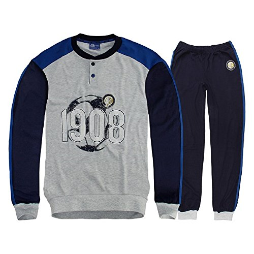 Pigiama uomo Inter Abbigliamento Ufficiale Fc Internazionale *21502-S-grigio melange