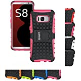 Galaxy S8 Case, HLCT Rugged Shock Proof Dual-Layer PC and Soft Silicone Case With Built-In Kickstand for Samsung Galaxy S8 (2017) (Rose Pink)