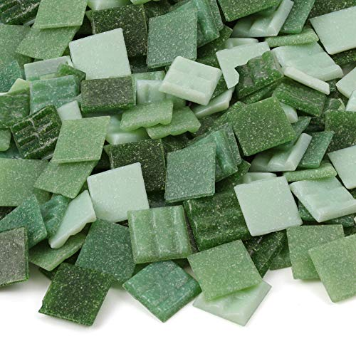 - Milltown MerchantsTM Green Mosaic Tiles - Bulk Mosaic Tile Assortment - 3/4 Inch (20mm) Mixed Colors Venetian Glass Tile - 3 Pound (48 oz) Craft and Backsplash Tile