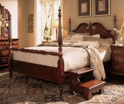 American Drew Cherry Grove Queen Low Poster - Bed American Drew