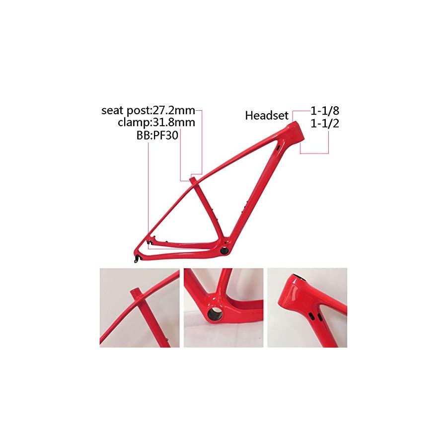 SmileTeam T800 Full Carbon Mtb Frame 29er Mtb Carbon Frame 29 Carbon Mountain Bike Frame 142x12 or 135x9mm Bicycle Frame