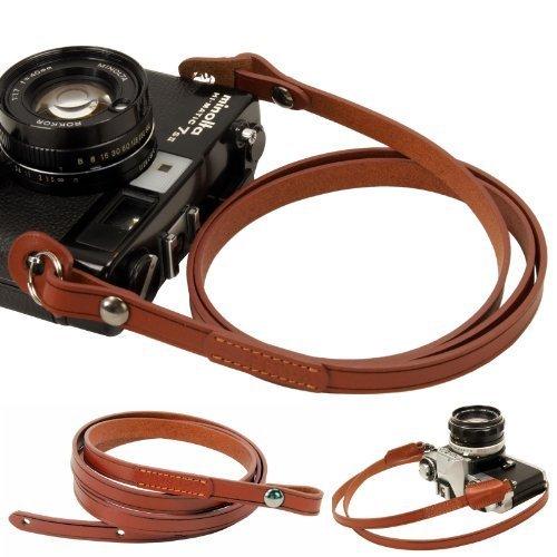 Leica Carrying Strap (Brown whole leather Camera neck shoulder strap for Film SLR DSLR RF Leica Digital)