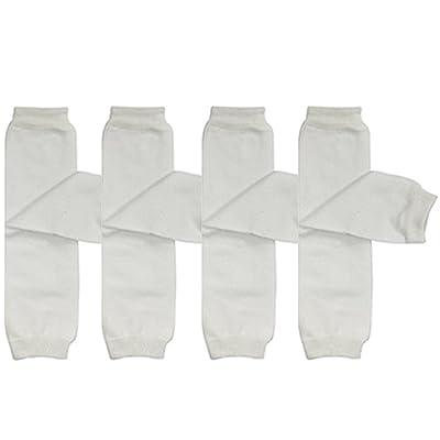 ALLYDREW 4 Pack Solid Baby Leg Warmer Set & Toddler Solid Leg Warmer Set for Boys & Girls