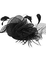 Aniwon Wedding Hats Stylish Flowers Mesh Hair Fascinators with Hair Clip