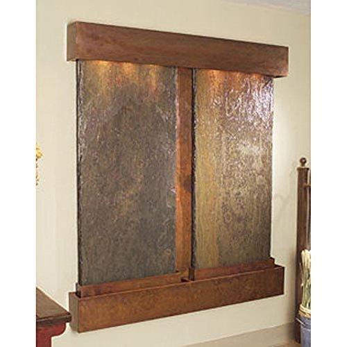 Adagio Cottonwood Falls Wall Fountain Rainforest Brown Marble Rustic Copper - CFS1006