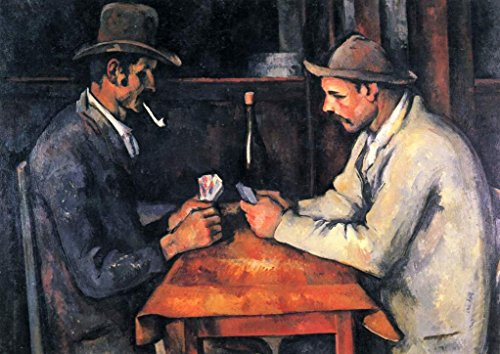 (Paul Czanne The Card Players French Post Impressionist Oil On Canvas Painting Print Cool Wall Decor Art Print Poster 18x12)