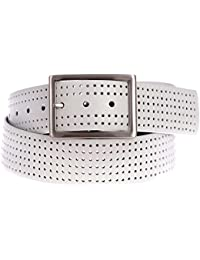 Men's Silicone Perforated Reversible Belt