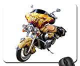 Rectangle Non-slip Rubber Mouse Pad(9.45x7.8x0.12 Inches) Motorcycle Vehicle Collector Item Adventure 1