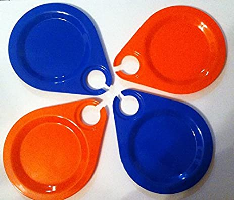 4 PK Melamine Party Plate With Wine Holder & Amazon.com   4 PK Melamine Party Plate With Wine Holder: Buffet Plates