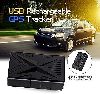 QearFun Vehículo Impermeable Rastreador GPS Dispositivo de rastreo magnético Fuerte Localizador de rastreadores de automóviles con Sistema antirrobo y Dispositivos de Alarma para niños de automóvil