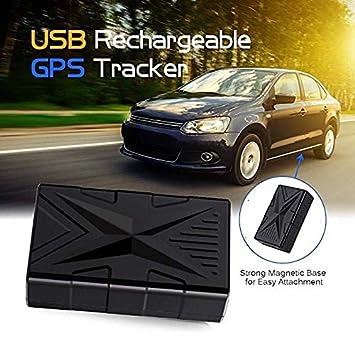 QearFun Vehículo Impermeable Rastreador GPS Dispositivo de rastreo magnético Fuerte Localizador de rastreadores de automóviles con Sistema antirrobo y ...