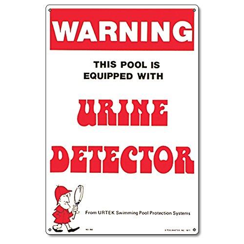 Poolmaster 41350 Urine Detector Sign for Residential Pools