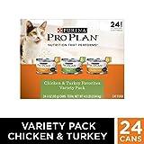 Purina Pro Plan Gravy Wet Cat Food Variety Pack, Chicken & Turkey Favorites - (24) 3 oz. Cans