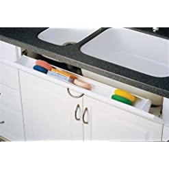 Kitchen Rev-A-Shelf 6551-36-15-50 36″ Tip-Out Sink Front Tray with 1 pair of hinges – Polymer-Almond tip-out trays