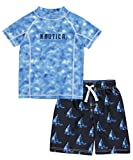 Nautica Boys%27 Rashguard Set with Upf 5