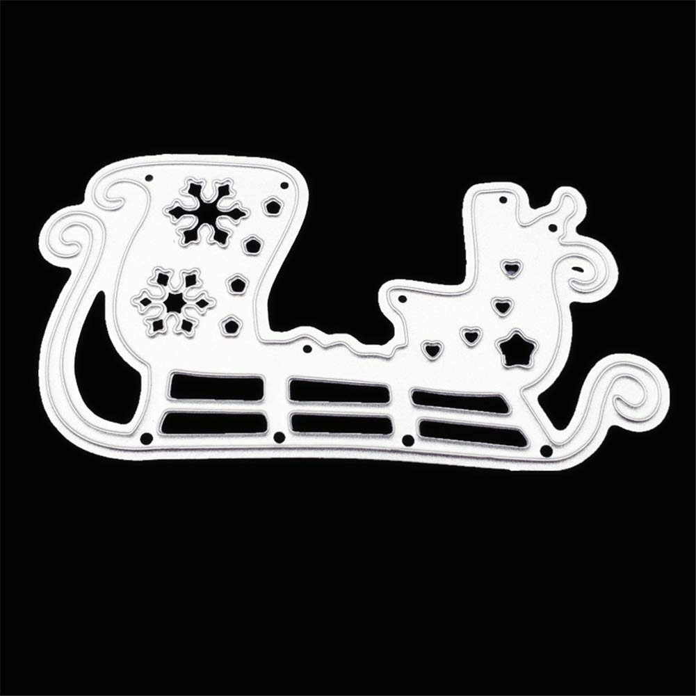 Moon with Ribbons Metal Cutting Dies 3.64.3 Alinacrafts Die Cuts for Card Making and Scrapbooking Thanksgiving Christmas Dies #7