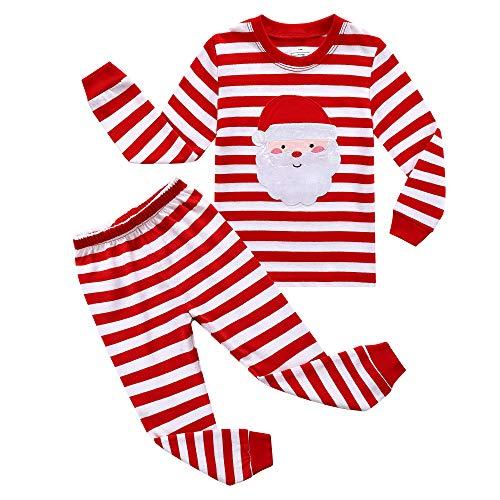 RKOIAN Little Boys Girls Pajamas Sets Toddler Santa Christmas Pjs 100% Cotton Kids Sleepwears