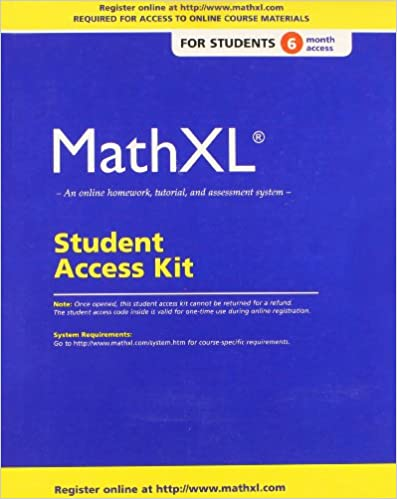 amazon com mathxl standalone access card 6 month access