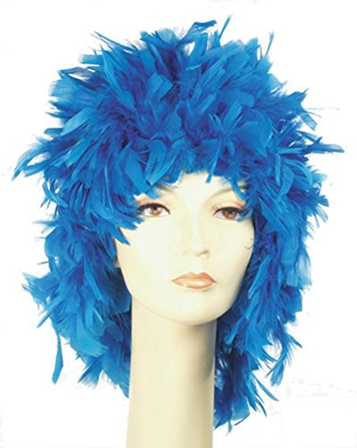 Lacey Wigs Feather Wig Sky Blue ()