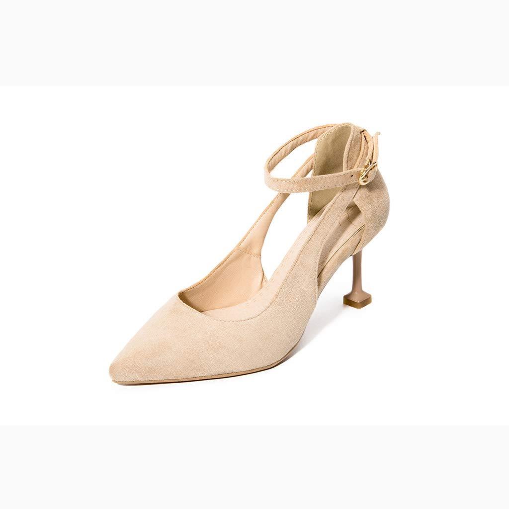 femmeschaussures Sandales Femmes, Chaussures de Mode Femmes Haut Talon Chat avec Boucle Sandales 33-43,C,37