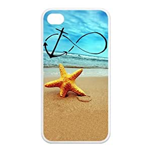 Infinity Anchor Forever Young Starfish Rubber Case Cover for Apple Iphone 4 Iphone 4s Cellphone Case Customed Design Fashiondiy
