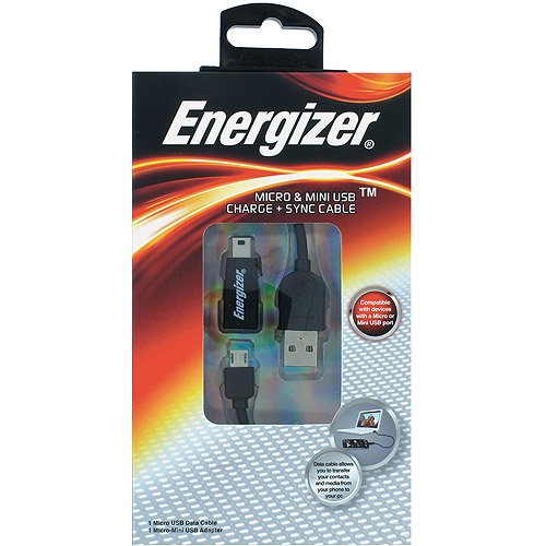 Eveready - ENGDUSBK - Micro & Mini Usb Charge And Sync -