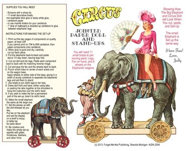 Download 3 Pages Circus Figures to Cut-Play: #2363 (TWO SETS!) pdf epub