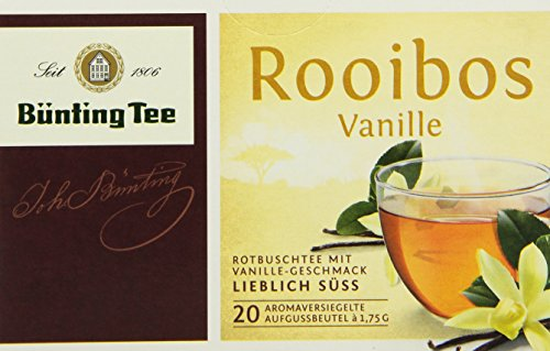 Bünting Tee Rooibos Vanille 20x1.75 g Beutel, 12er Pack (12 x 35 g)