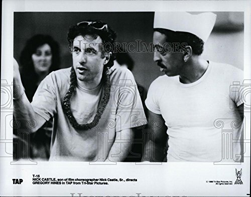 Historic Images 1988 Press Photo Nick Castle Directs Gregory Hines in Tap Movie