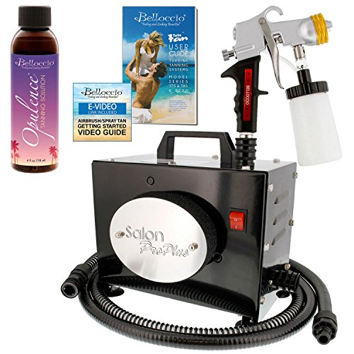 Belloccio Salon Pro Plus T200-11, 2 Stage Turbine Sunless HVLP Spray Tanning System; Free 4 oz. Belloccio Opulence Tanning Solution & Video Link ()